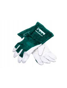 Краги сварочные КЕДP КС-18 УНИВЕРСАЛ TIG, (S,M,L), бело-зеленые